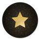 Gouden ster op bokeh