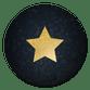 Gouden ster op bokeh blauw