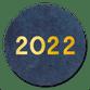 2022 goud op blauw