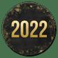 2022 - zwart goud bokeh