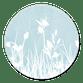 Waterverf  gras - blauw
