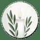 Weiße Adventskerze I
