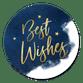 Best Wishes blauw
