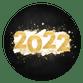 Gouden 2022 met witte verf en spetters