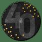 40, confetti en zwart