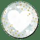 Herz weiß aquablau