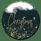 Kerst - Donkerblauwe waterverf gouden christmas
