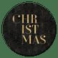 Christmas typografie vintage patroon