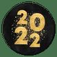 2022 goud, spetters zwart