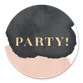 Gouden Party Waterverf Zwart Roze