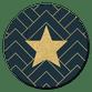 Gouden Ster, Patroon Blauwe Achtergrond
