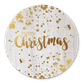 Kerst - Hout, gouden spetters en Merry Christmas