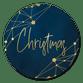 Christmas gold-blau Netzwerk