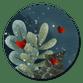 Zweige & rote Herzen