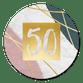 Marmer, verf en gouden 50