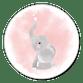 Elefant Aquarell rosa