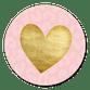 Roze panterprint en gouden hartje