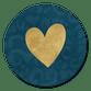 Goud hartje panterprint blauw