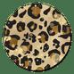 Panterprint met gouden spetters