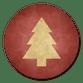 Weihnachtsbaum gold auf weinrot