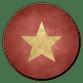 Rode Waterverf Gouden Ster
