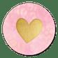 Roze panterprint met gouden hartje