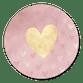 Roze waterverf en gouden hartje