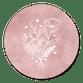 Roze waterverf en witte bloemetjes