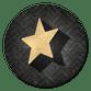 Gouden 3d ster Vintage
