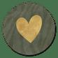 Zebraprint gouden hartje