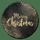 Merry Christmas, gouden sneeuw en zwart