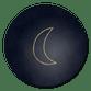 Kerst donkerblauw met gouden maantje