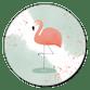 Flamingo op waterverf