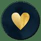 Gouden hart donkerblauw