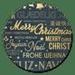 Kerstgroet internationaal zwart