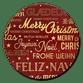 Kerstgroet internationaal rood