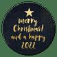 Kerstboom in letters zwart 2022 - sterretjes