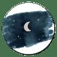 Maantje sterrenhemel