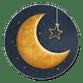 Gouden maan met ster