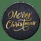 Merry Christmas goud op zwart