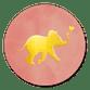 Olifantje Goud - Roze