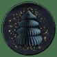 Papieren kerstboom - blauw