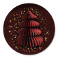 Papieren kerstboom - rood