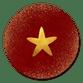 Rood met gouden ster
