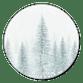 Weihnachtswald blau