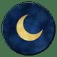 Sluitzegel maan goud blauw