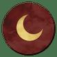 Sluitzegel maan goud rood