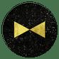Sluitzegel goud strikje zwart
