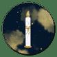 Advent weiße Kerze blaugold T