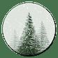 Sluitzegel dennenbomen groen sneeuw